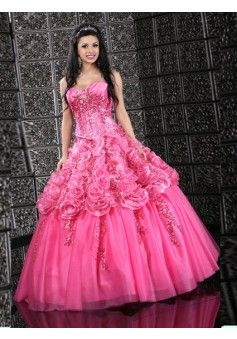 Ball Gown Sweetheart Sleeveless Floor-length Organza Quinceanera Dress #USAZT520 - See more at: http://www.avivadress.com/special-occasion-dresses/ball-gowns-quinceanera-dresses.html#sthash.FsjUWIC9.dpuf