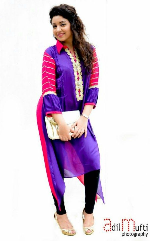 Pakistani Long Shirt Kurti Design For Women | Fashion Dresses ...
