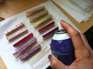 DI-Myself: Glitter Clothespins