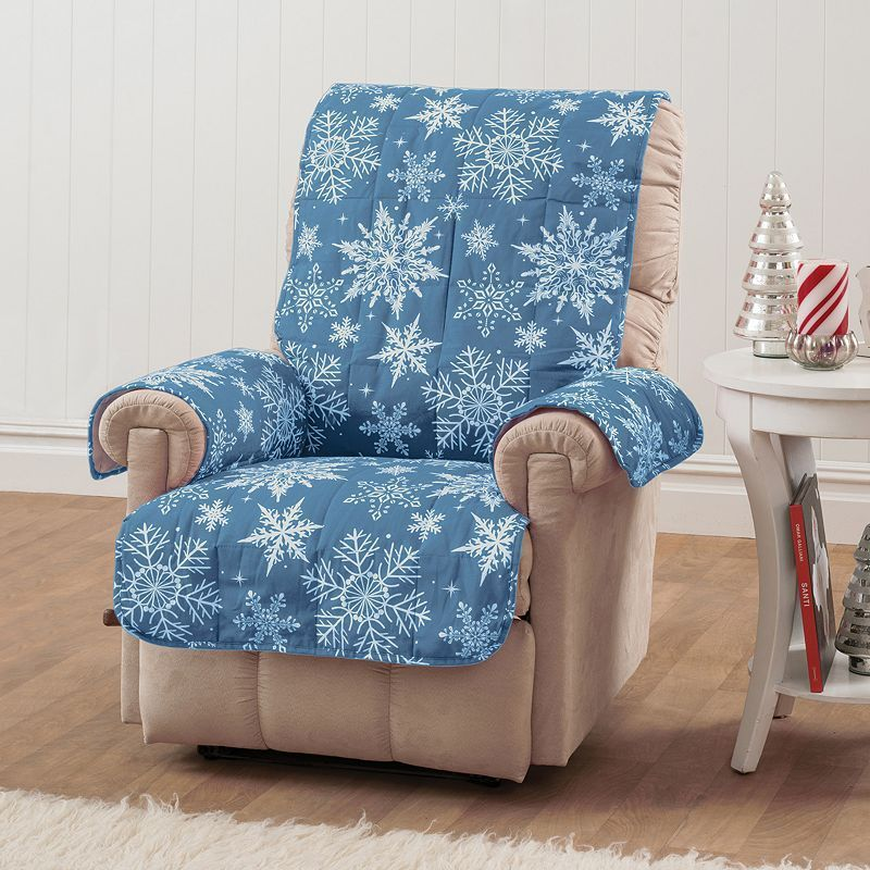 Snowflake Recliner Wing Chair Protector