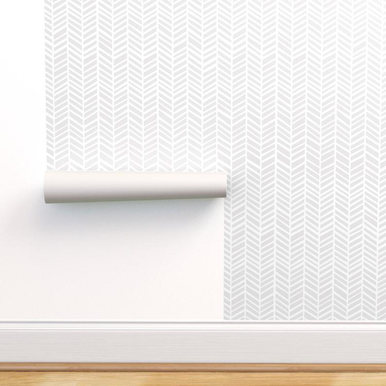 Clayton Herringbone From Dynasty Collection Grey Wallpaper Living Room Dado Rail Living Room Herringbone Wallpaper