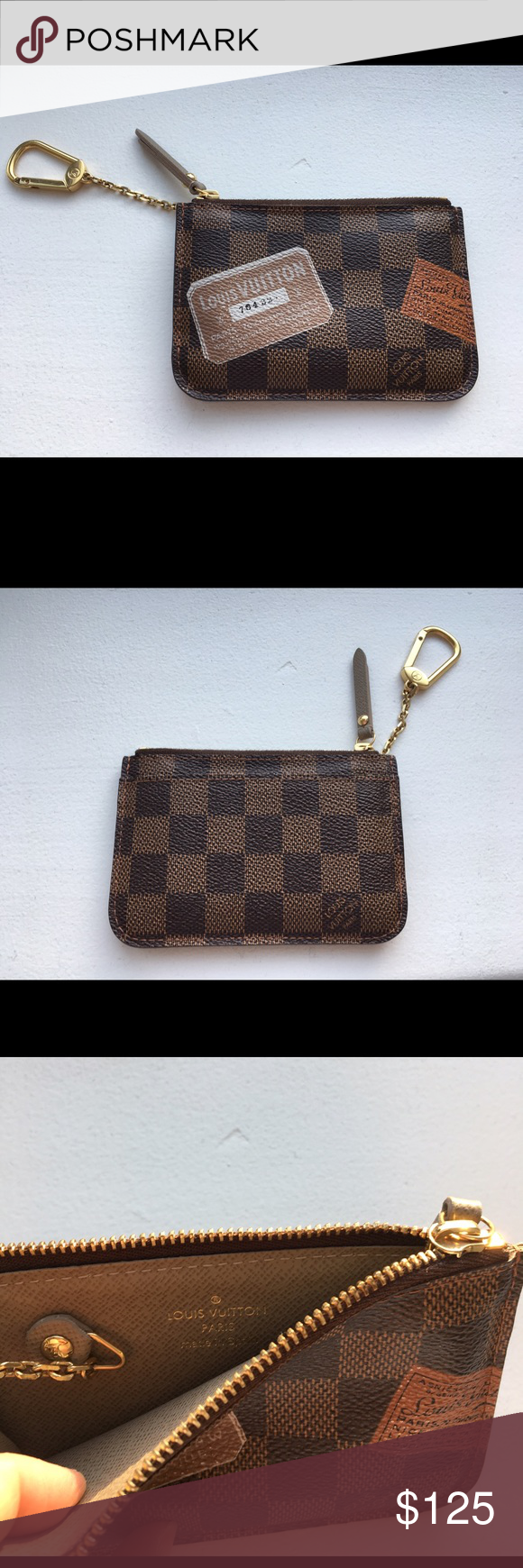 d4513100992 Louis Vuitton key pouch - perfect condition ❤ Key pouch change or card  holder