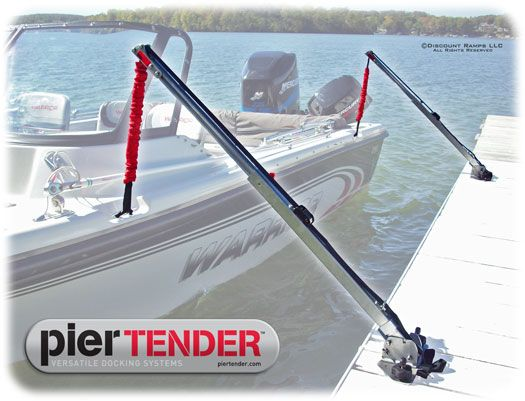 Boat Dock Mooring System - PIER-TENDER-2400 | Lake dock ideas in
