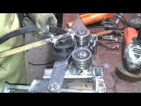 Aqui les muestro una maquina para hacer aros o circulo de - Como hacer una solera de hormigon ...