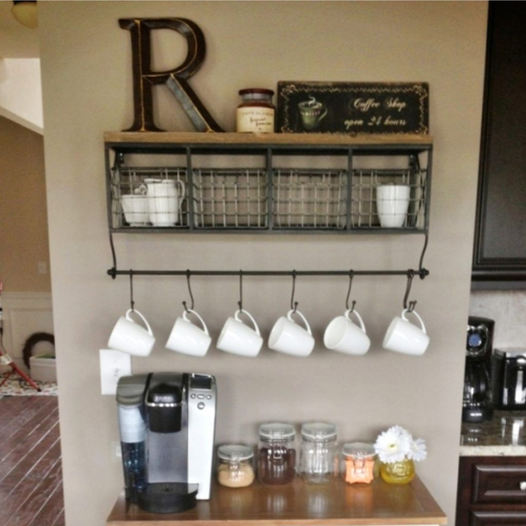 Home Coffee Bar Design Ideas: Farmhouse Coffee Station Ideas