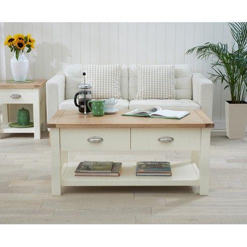 Nice Sandringham Painted Oak U0026 Cream Furniture Coffee Table