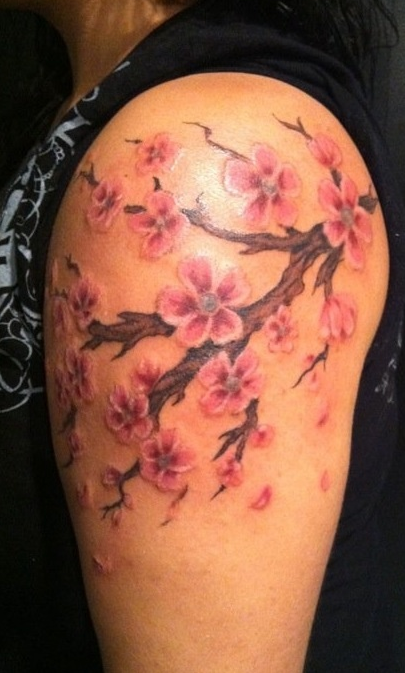 Cherry Blossom Tattoo Falling Leaves Blossom Tattoo Cherry Blossom Tattoo Tattoos