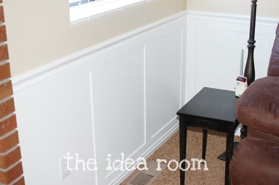 Faux Wainscoting - Easy DIY