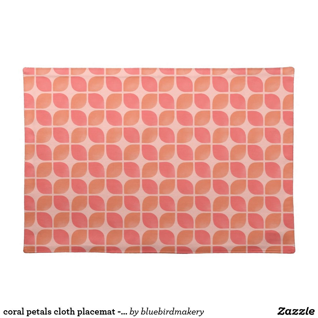 Coral Petals Cloth Placemat Pink Zazzle Com Vintage Colour Palette Placemats Coral Colour Palette