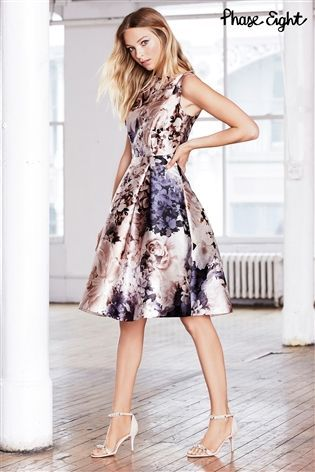 79b01e8019b4 Buy Grey Phase Eight Casey Floral Dress from the Next UK online shop ...