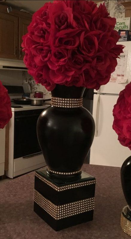 24+ ideas wedding centerpieces red purple centerpieces - -