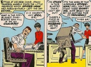 Astounding J Jonah Jameson Gets His Butt Webbed To His Desk Chair Download Free Architecture Designs Scobabritishbridgeorg