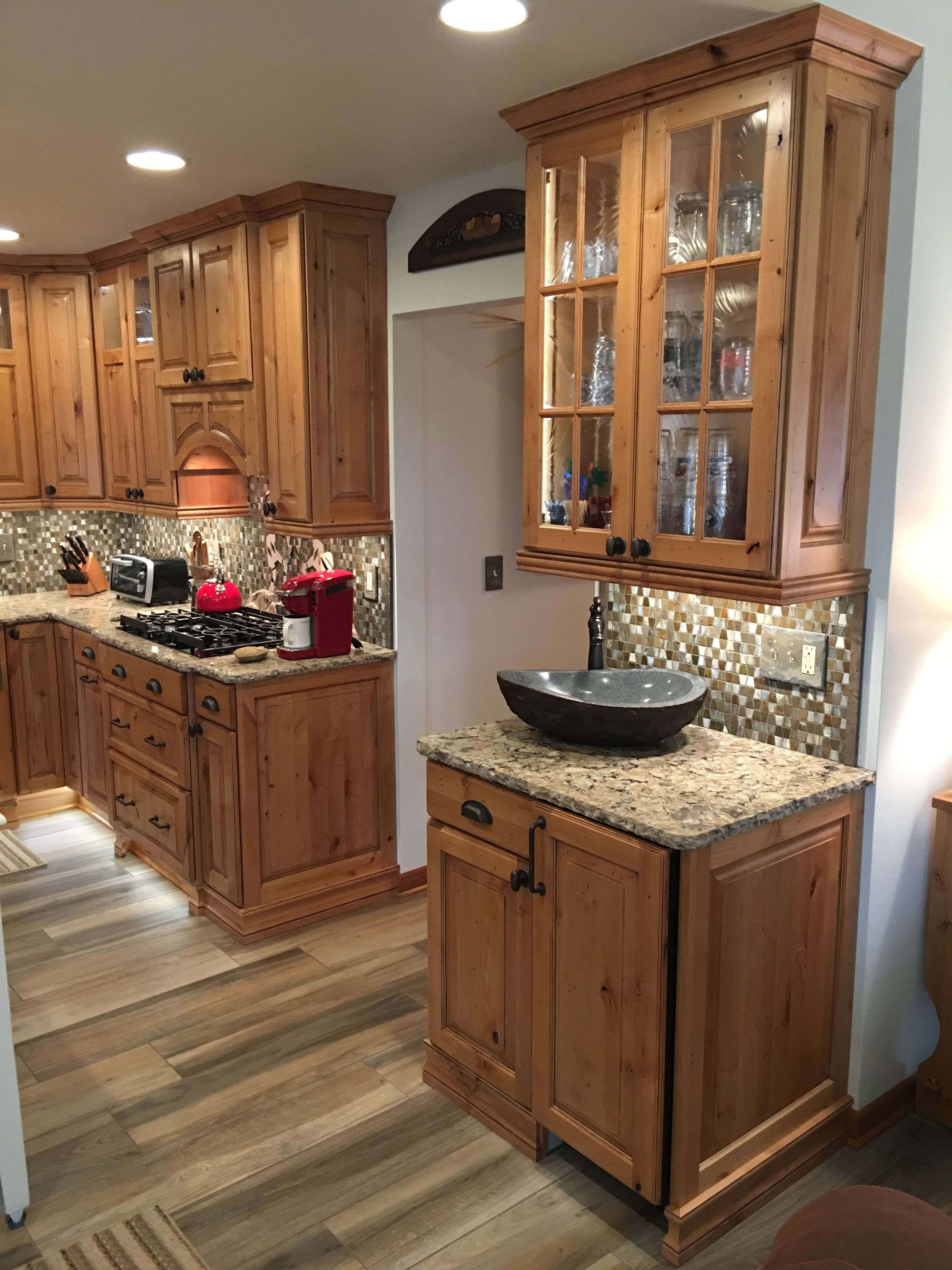 rustic kitchen new showplace cabinetry rustic alder natural stain with black glaze on kitchen id=30777
