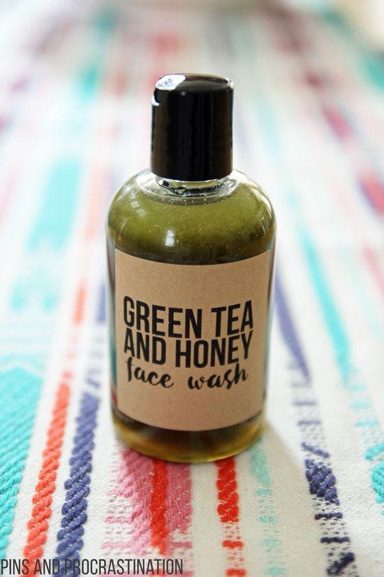 Homemade Anti-Inflammatory Green Tea Honey Face Wash - Pins and Procrastination