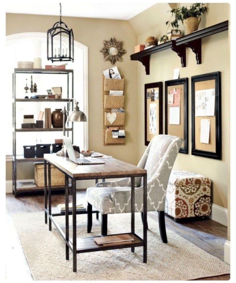 20+ Creative Farmhouse Desk Ideas For The Home Office To
