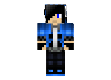 Black Haired Blue Creeper Boy Skin For Minecraft Minecraft Mods Minecraft Skins Cool Minecraft Skins Black Creepers