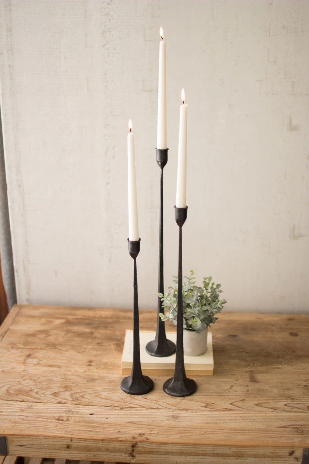 Black Taper Tall Cast Iron Candle Holders Cbl1020 Kalalou Set Of 3 Slim Skinny Iron Candle Holders Cast Iron Candle Holder Farmhouse Candle Holders