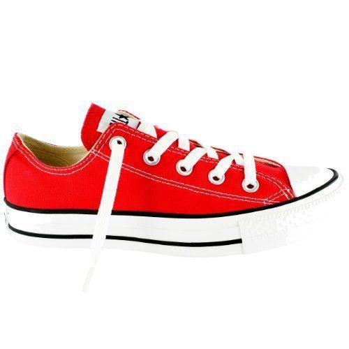 fcd8bb85b76f Womens Converse All Star Ox Low Chuck Taylor Chucks Sneaker Trainer - Red -  8 (5055785453157) Converse All Star Ox Low Chuck Taylor Chucks Full Canvas  Upper ...