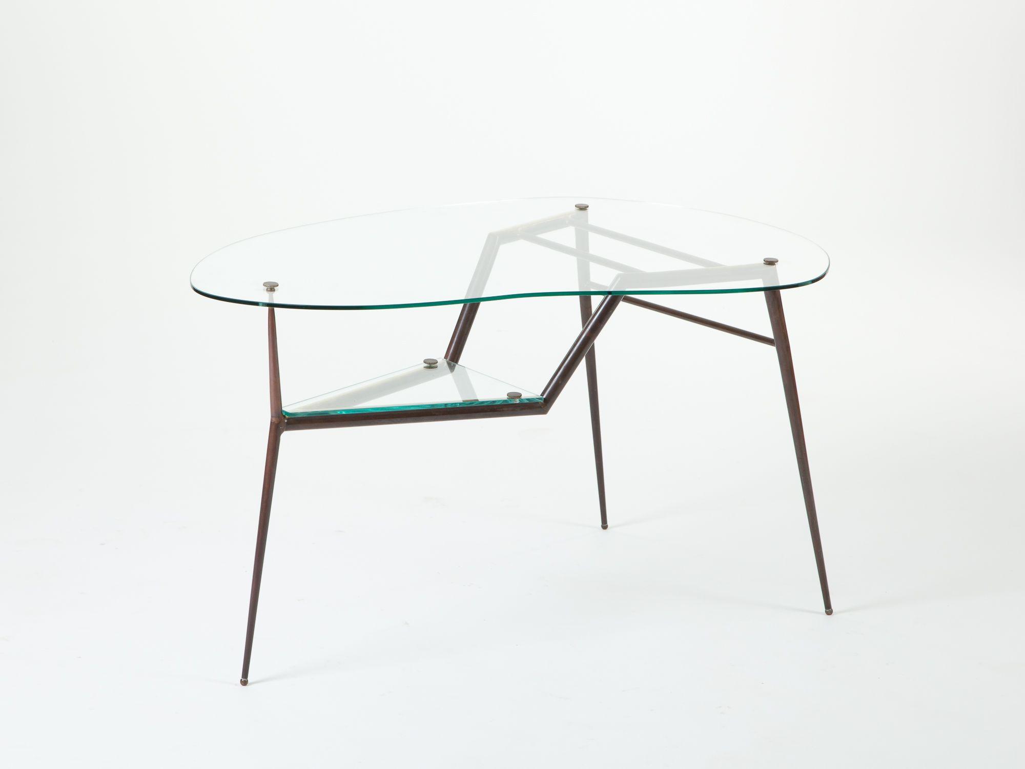 Tavolino bagno ~ Tavolino a fagiolo in ottone anni collezione tavoli