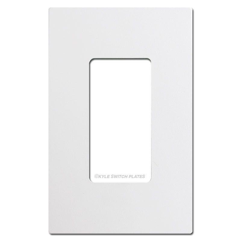 Screwless 1 Decora Rocker Switch Plate Cover White Plastic Rocker Switch Plate Covers Switch Plate Covers Switch Covers