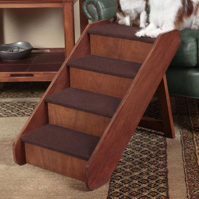 Terrific Holliman 4 Step 20 Wood Pet Stairs Other Pet Stairs Dailytribune Chair Design For Home Dailytribuneorg