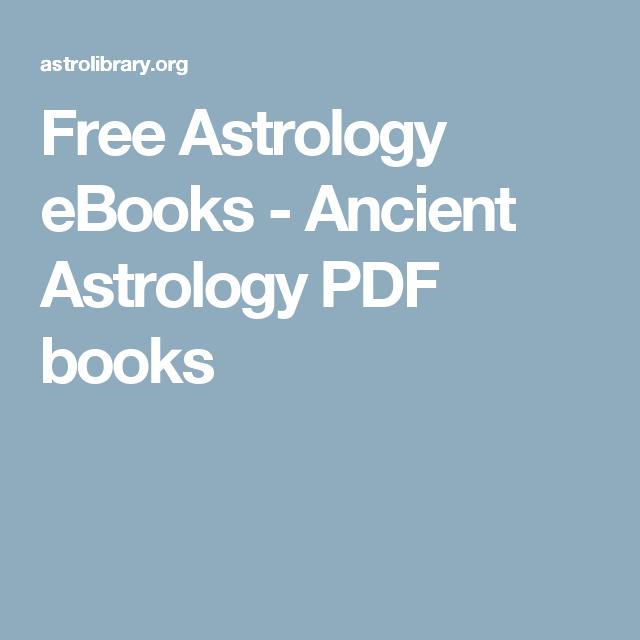 Ancient Astrology Books Pdf