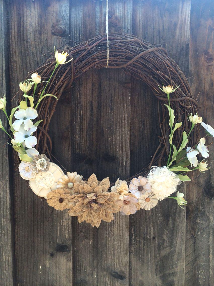 Beautiful neutral wreath