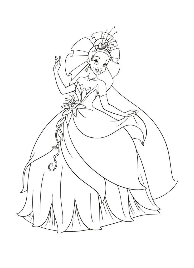 colorear a las princesas   Princesas \