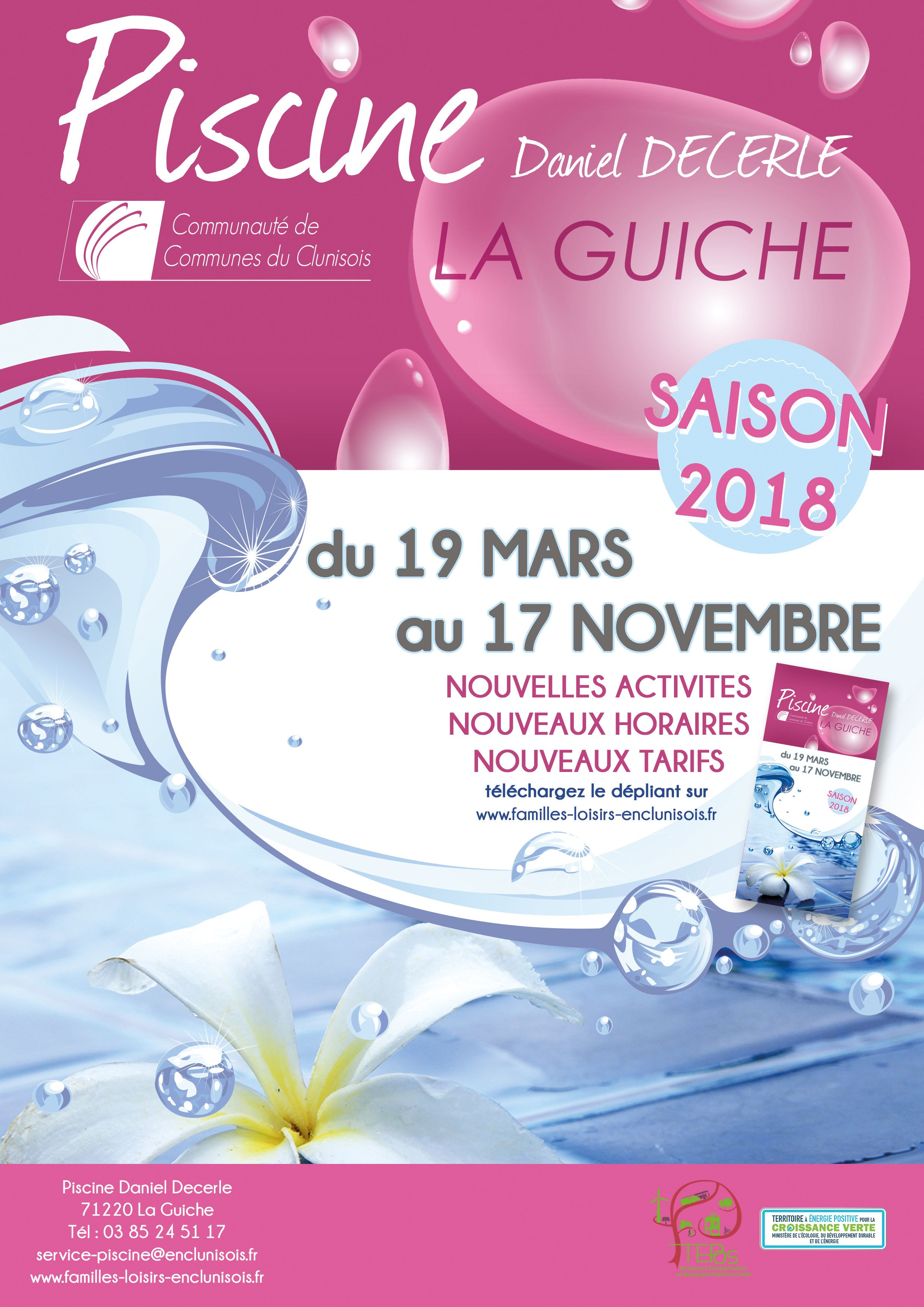 Ouverture De La Piscine De La Guiche Pour La Saison 2018 Le 19