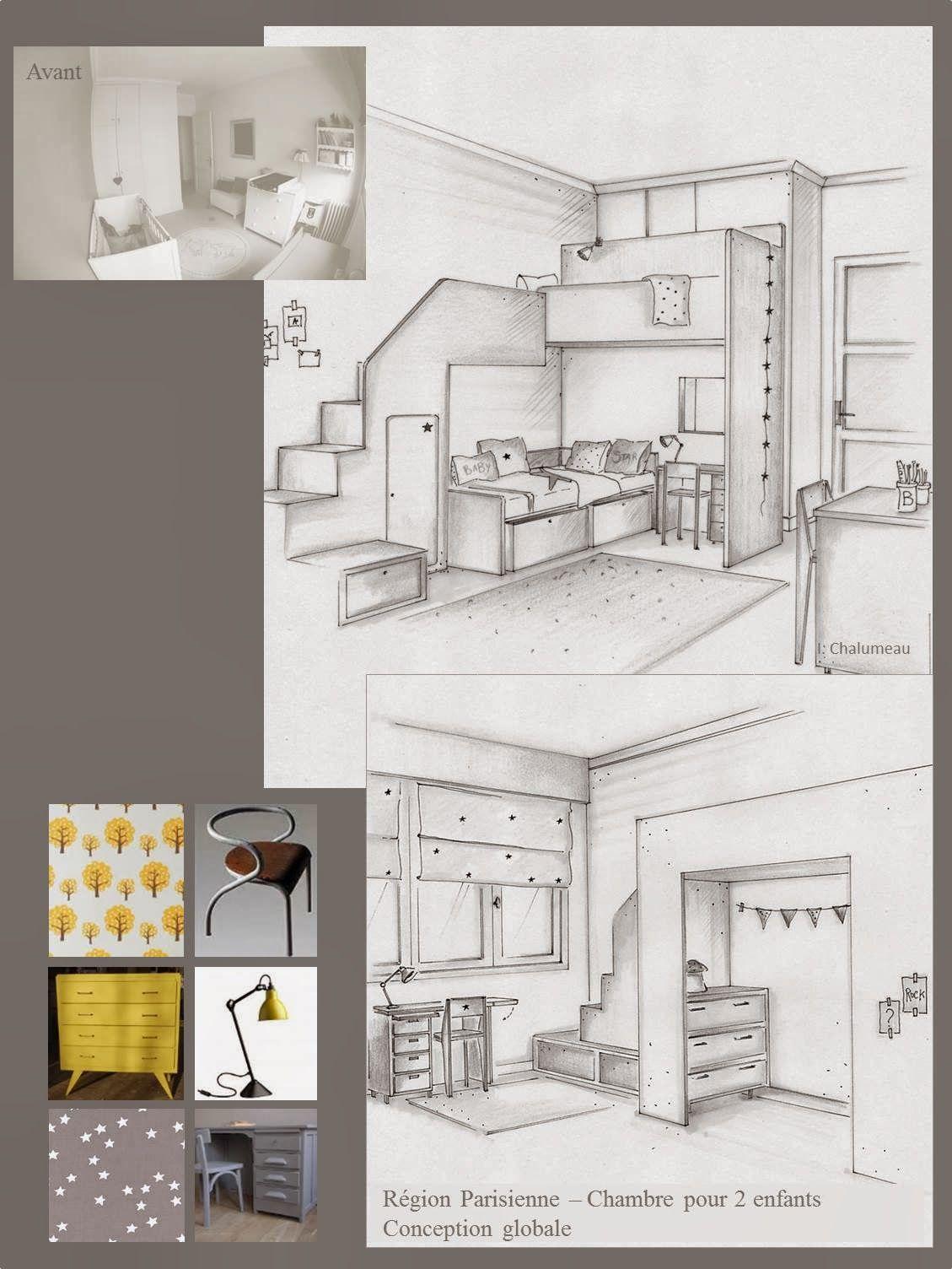 Conception Graphique: Planches Tendances, Plans, Perspectives, Planches  Matériaux. Accompagnement Pour Le