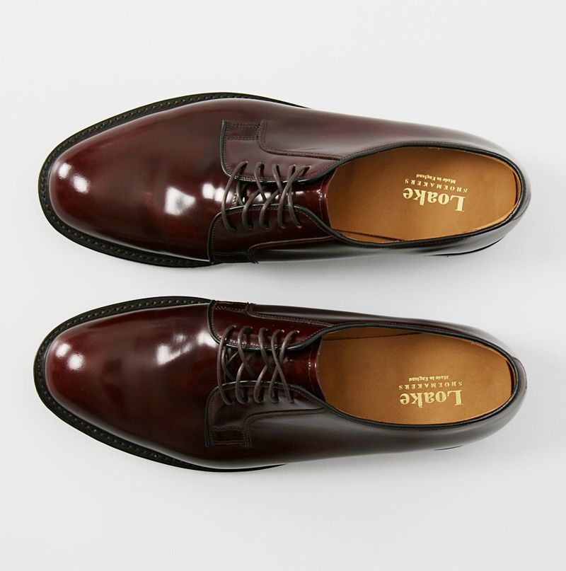 mod shoes loake 771 plain oxblood made in england shoes 03