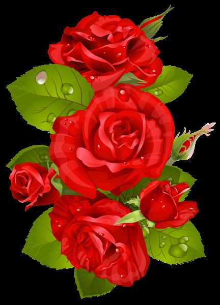 Red Rose Decoration Transparent PNG Clip Art Image