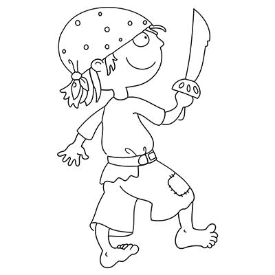pirat mit säbel | fasching basteln, malvorlagen für jungen