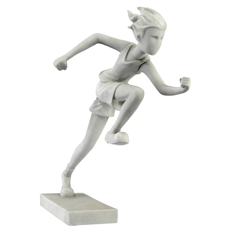 Design Toscano Marathon Man Athlete Runner Statue