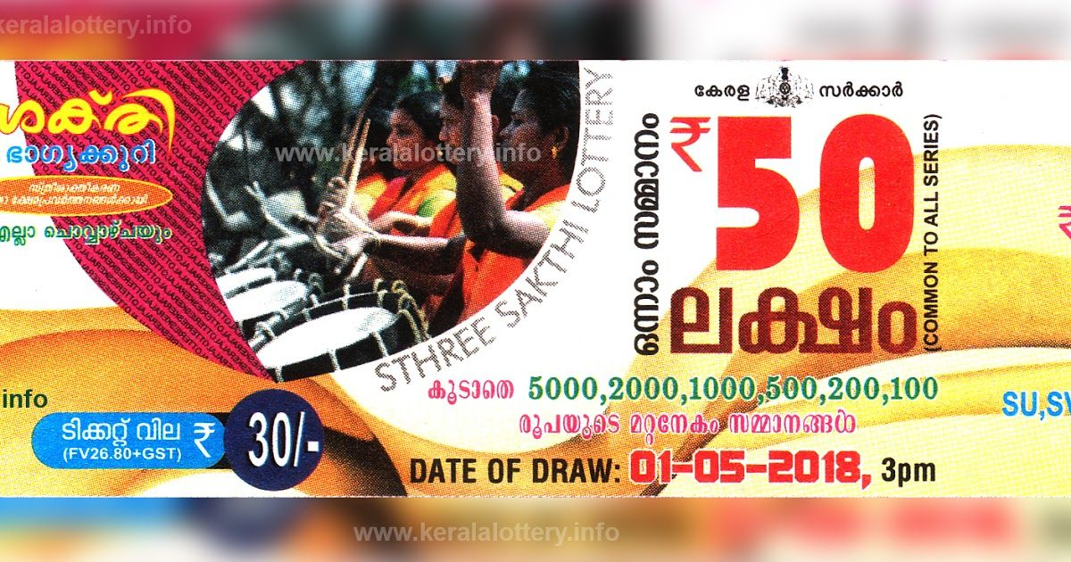 Kerala Lottery Results Today 01 05 2018 LIVE: Sthree Sakthi