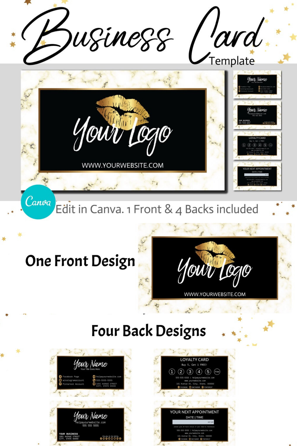 Diy Gold Marble Business Cards Canva Template Gold Business Card Design Appointment Card And Loyalty Card Instant Download Gold Business Card Business Card Design Business Card Template