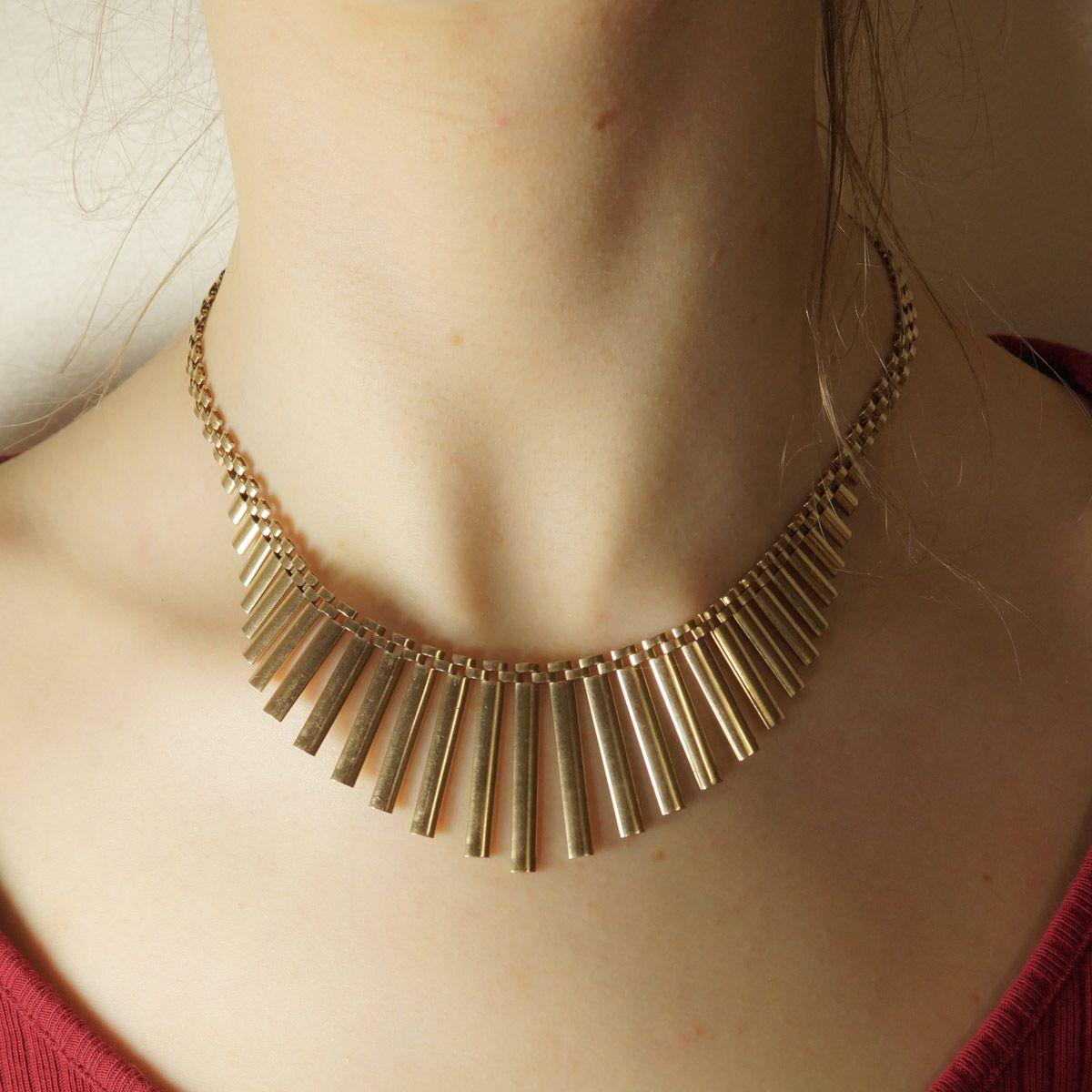 1960s Gold Cleopatra Collar (7)
