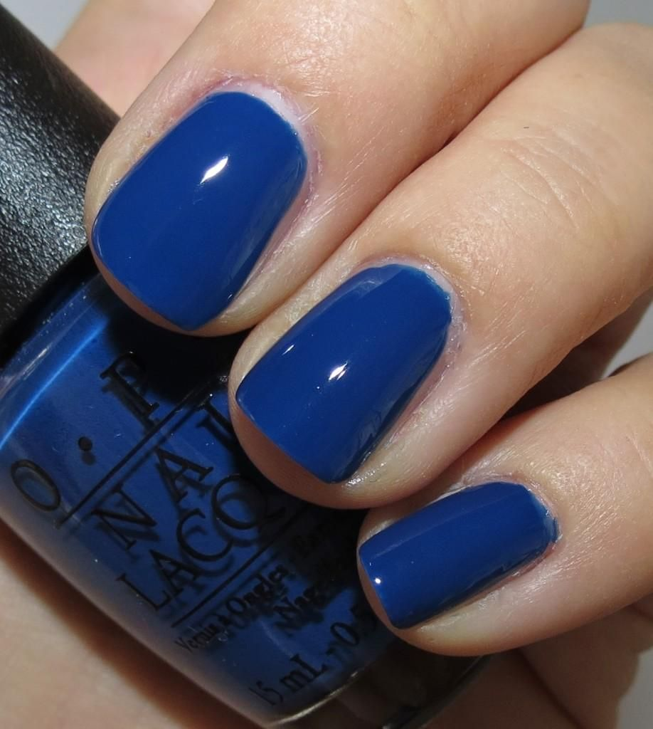 OPI Keeping Suzi at Bay...there is something about a cobalt blue ...