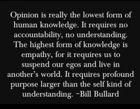 #opinion vs. empathy
