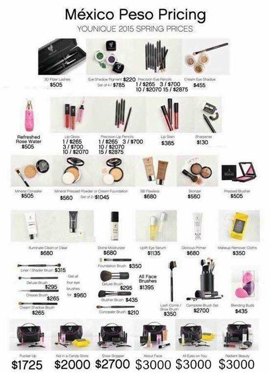 lista de maquillaje