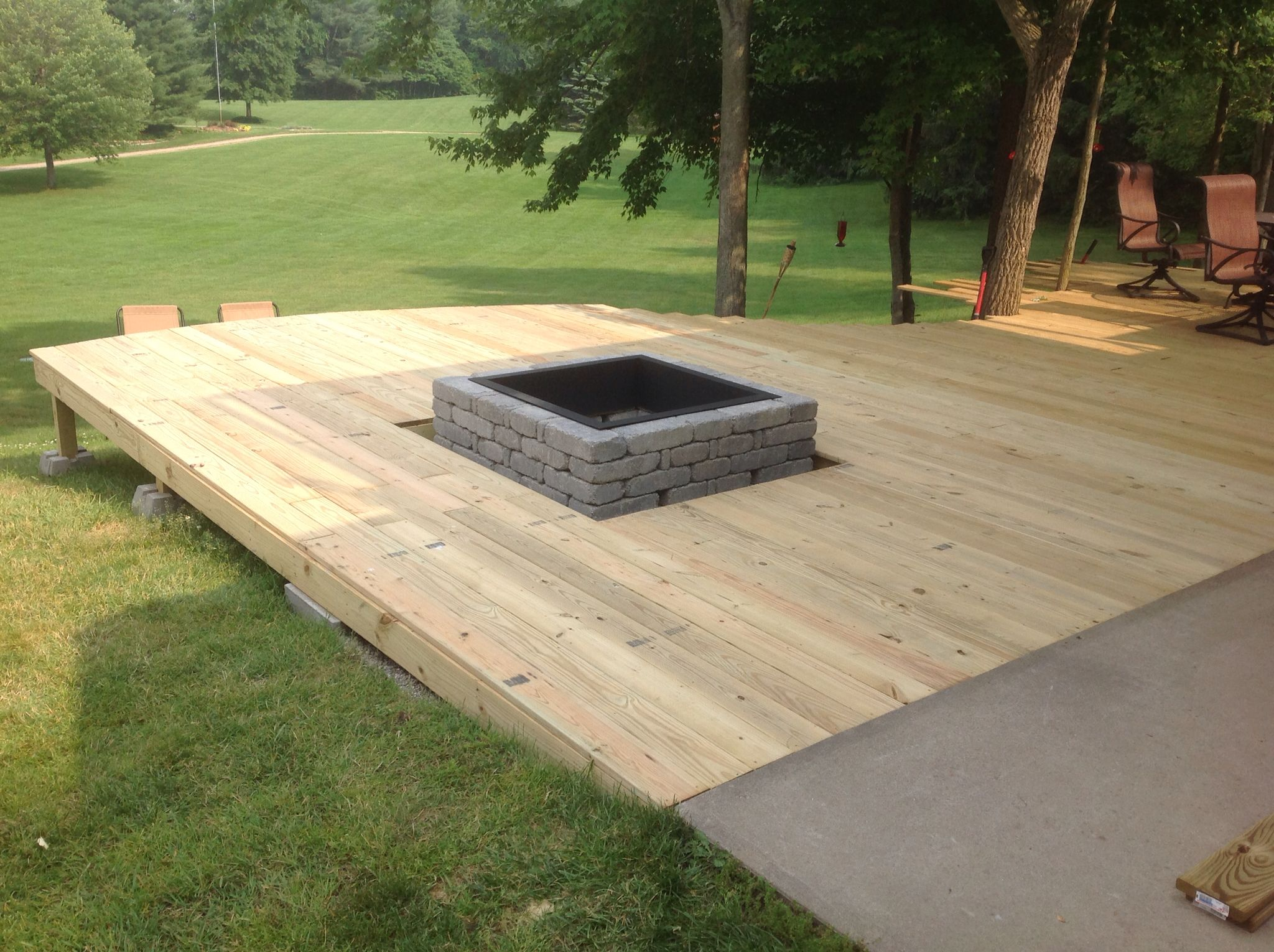 New Built In Fire Pit At Lake Deck Fire Pit Outdoor Fire Pit