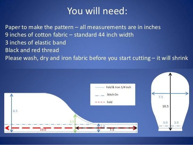 You Will Need Paper To Make The Pattern All Measurements Are In Inches 9