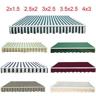 Manual Awning Canopy Patio Garden Sun Shade Shelter Green Rain Cover Top Fabr View More On The Link Http Ww Rain Cover Outdoor Ottoman Outdoor Blanket