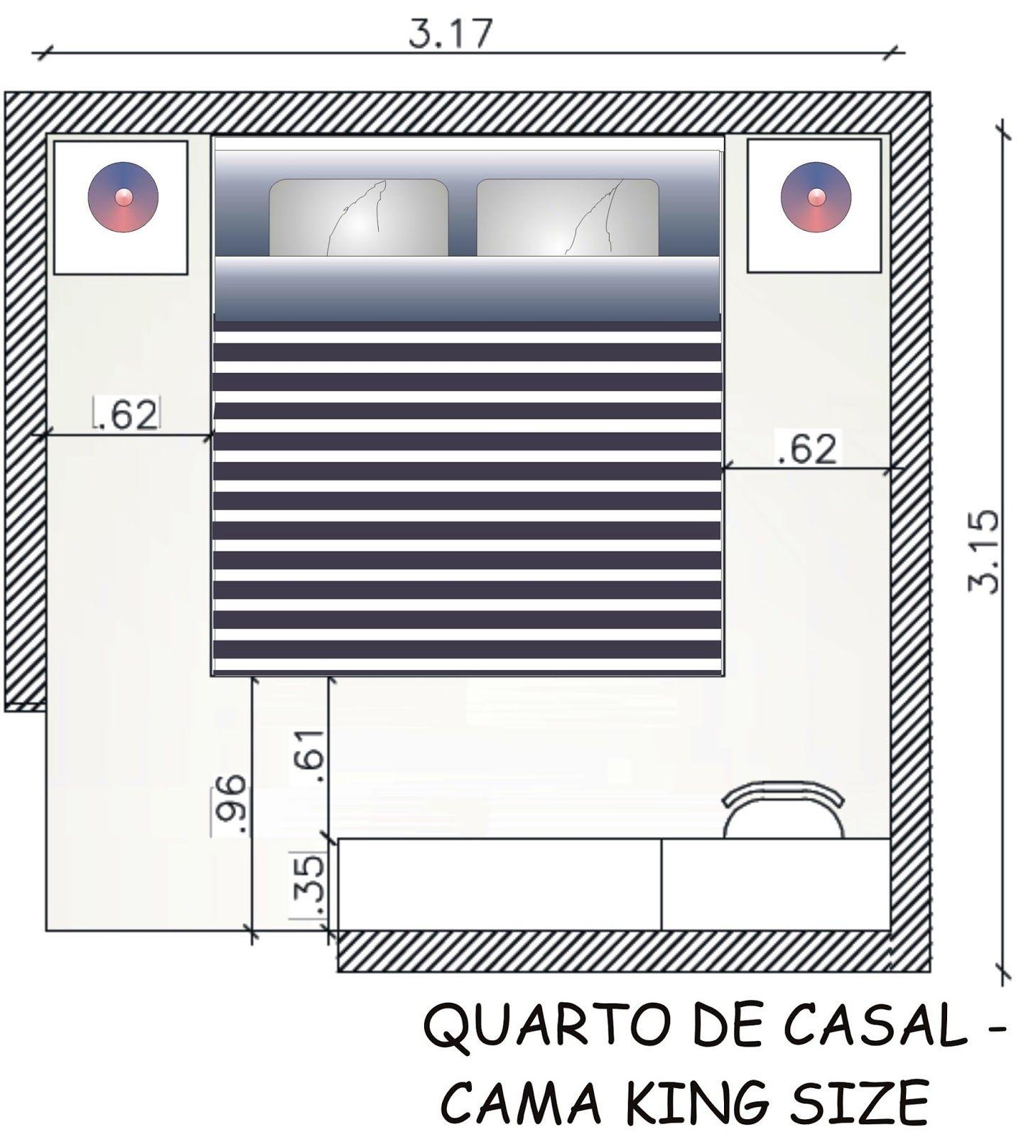 Fernanda Cavalcante Medidas B Sicas Quarto De Casal Quartos  ~ Tamanho Ideal Quarto Casal Closet