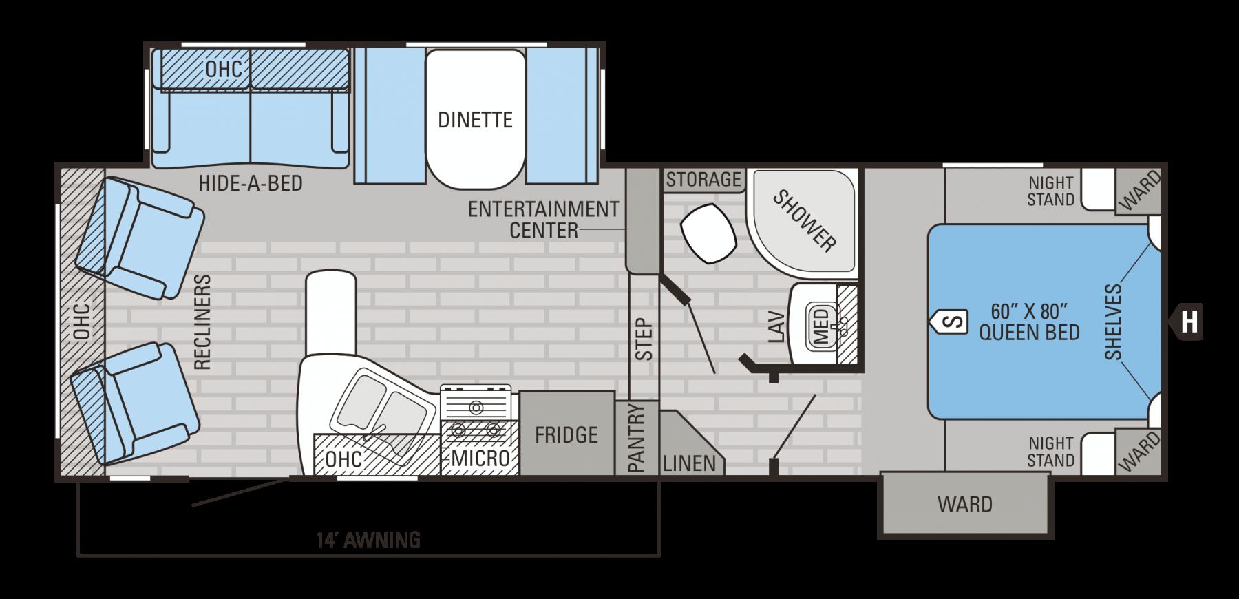 Jayco 2016 Eagle HT 26.5RLS Floorplan Jayco, California