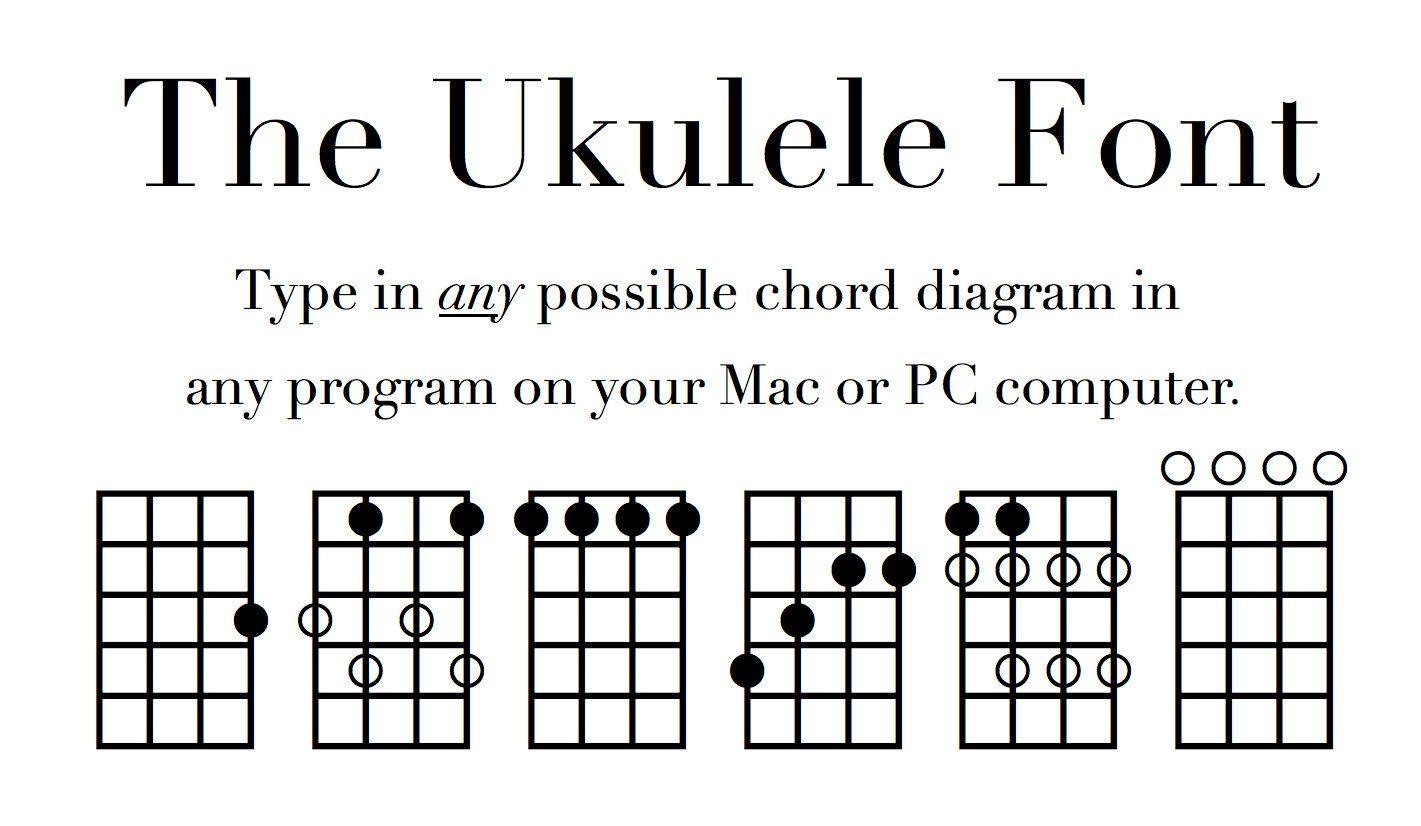 Uke fingering and chord diagram font notate ukulele diagrams on a uke fingering and chord diagram font notate ukulele diagrams on a pc or mac ccuart Images