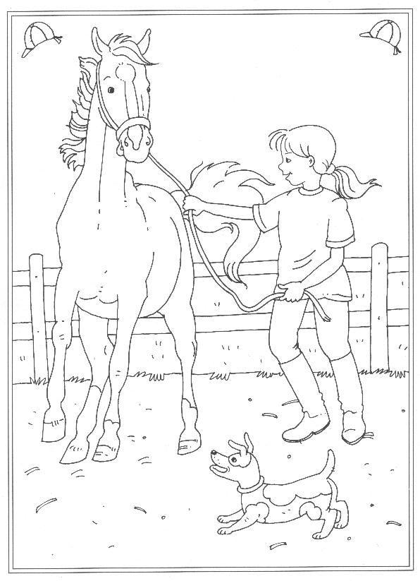 Kleurplaat Paard Hart 24 Kleurplaten Van Op De Manege Op Kids N Fun Nl Op Kids