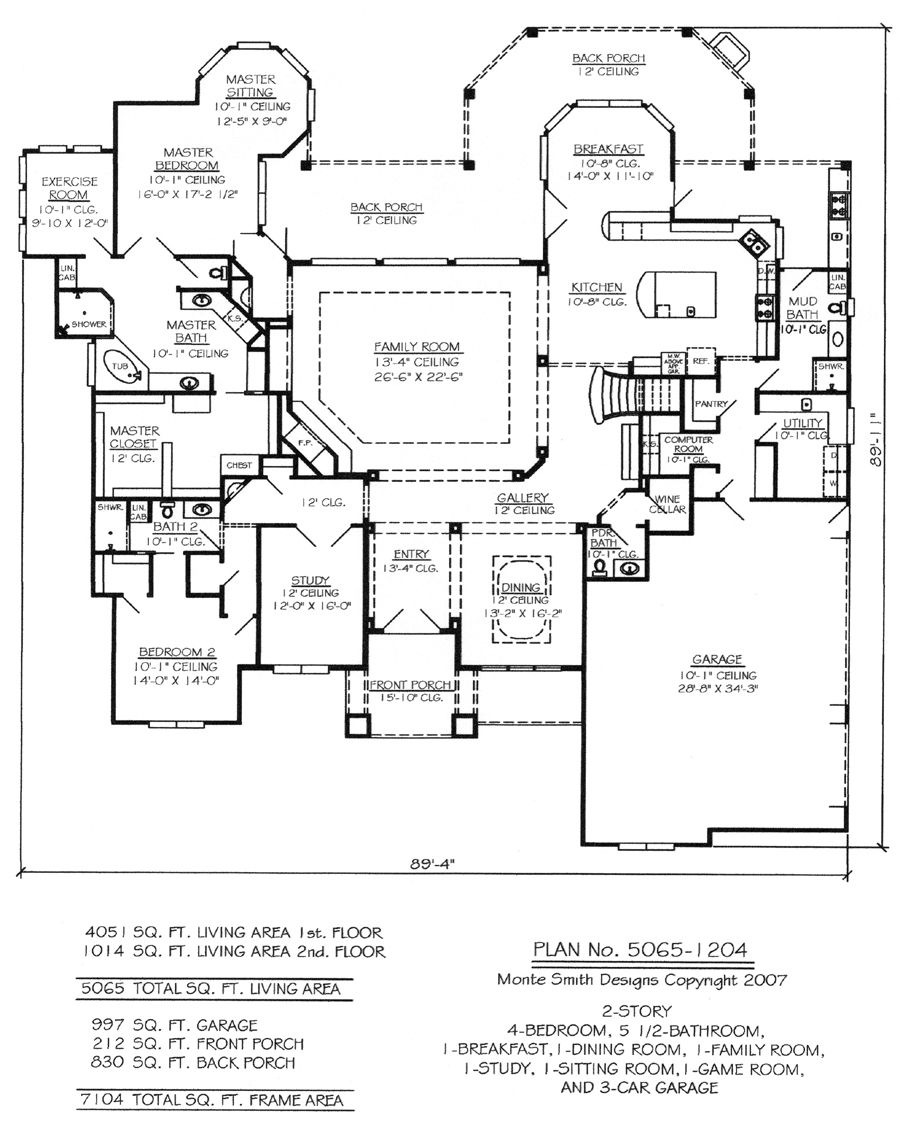 Homely Inpiration 15 2 Bedroom Bath Car Garage House Plans W2659 4 on
