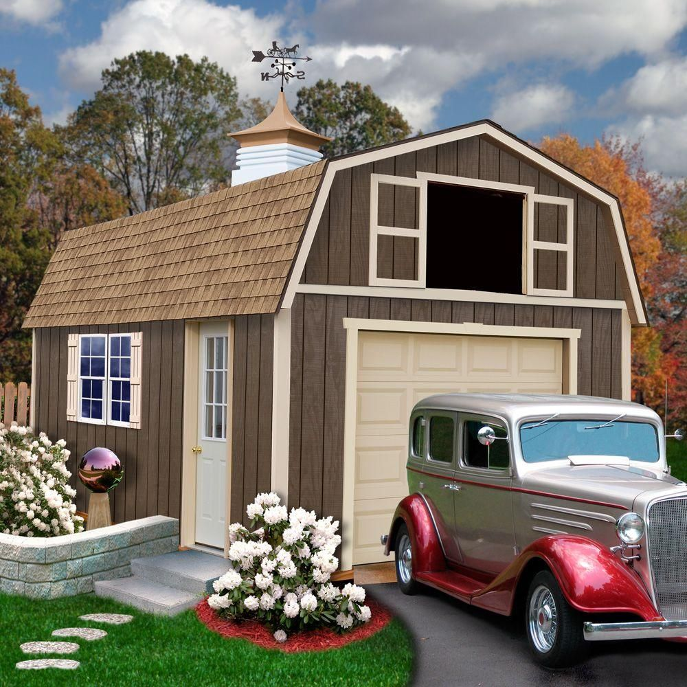 Best Barns Tahoe 12 Ft. X 16 Ft. Wood Garage Kit With