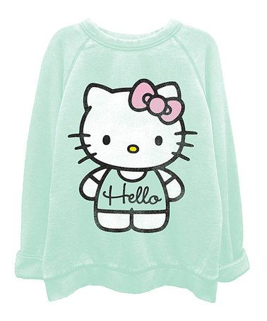 974d455bc Look what I found on #zulily! Mint Hello Kitty Washed Top - Juniors ...